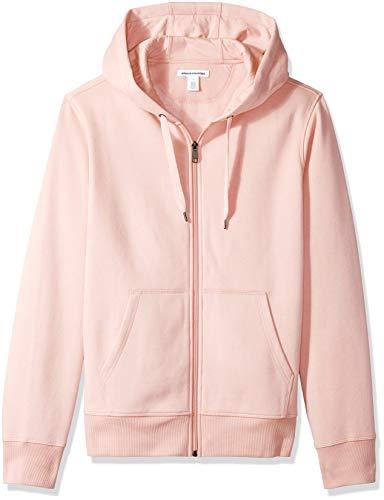 Amazon Essentials Full-Zip Hooded Fleece Sweatshirt sudadera, Rosa (pink), Medium