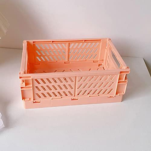 Fsrybh Caja Plegable Cesta Plegable de Almacenamiento de Alta Capacidad Caja de joyería de cosméticos de Oficina de plástico