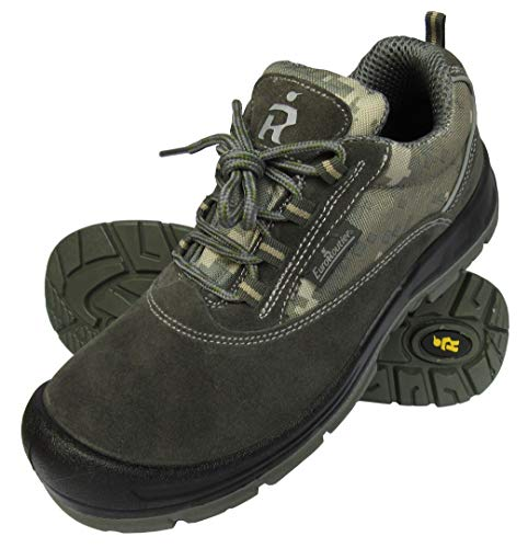 EuroRoutier Camouflage Zapatos de Seguridad mimético S1P Sra (Numeric_40)