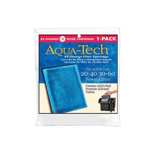 Aqua-Tech EZ-Change No.3 1-Pack Aquarium Filter Cartridge for 20 to 60 Power Filters