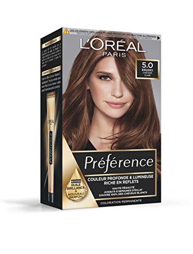 L'Oréal Paris Préférence Coloration Permanente Cheveux, Nuance : Bruges (5.0), Châtain Clair