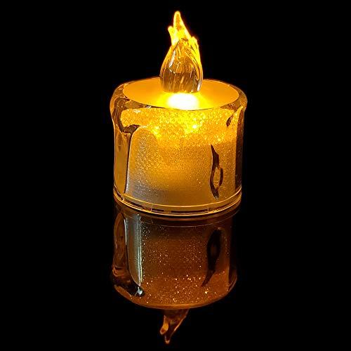 YZCX 24 Pezzi Candele a LED Senza Fiamma Portò Candele Lumini da Tè Tealight Elettrica 100 Ore Lunga Durata della Batteria per Decorazione di Casa Natale Halloween Partito Matrimoni Compleanno