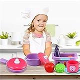 MAATCHH Juguetes de Cocina para Niños 'Mi pequeño Juego de Cocina de Cocina Elegante con Accesorios Juguetes y Juegos (Color : Wood Color, Tamaño : One Size)