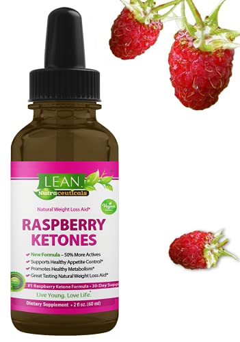 Lean Nutraceuticals Raspberry Ketones Drops - Start Ketosis Faster with a Powerful Natural Weight Loss Supplement / Faster Absorption Compared to Capsules / Vegan Liquid Extract Formula (60 ml)