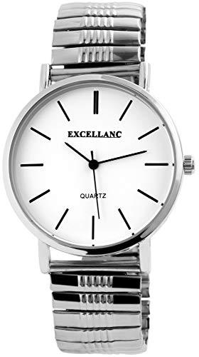 Excellanc Herren - Uhr Zugarmband Comfort Fit Armbanduhr Analog Quarz 2700015