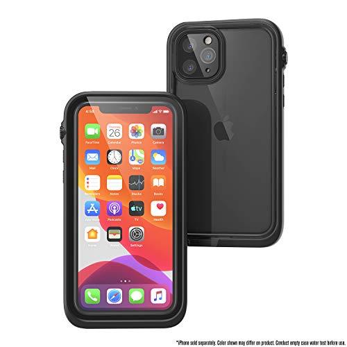 Funda Impermeable para iPhone 11 Pro con Correa, Parte Posterior Transparente, Calidad Militar estándar, Impermeable 10m, protección contra caídas 2 m, película Protectora de Pantalla - Negro