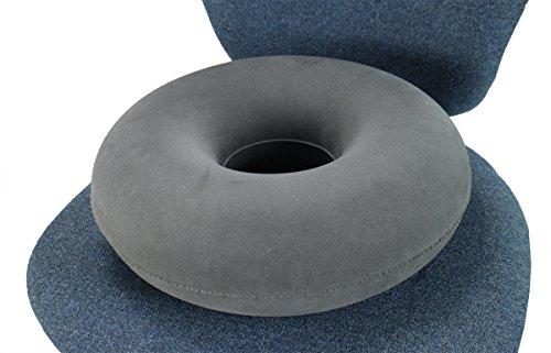 ObboMed SV-2500N, con nueva válvula de seguridad, Cojín inflable plegable con forma de anillo o donut para aliviar el dolor en pelvis, coxis, presión del coxis, hemorroides.