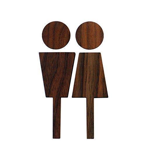 Hacoa トイレサイン Toilet sign-W ウォールナット H190-W