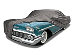 Custom Fit 1958-1972 Chevy Impala / Bel Air / Biscayne Coupe, Sedan and Convertible Car Cover Heavy Duty Leatherette vinyl with the look and feel of genuine leather, Extremely soft fleece lining to protect fine automotive finishes 100% Waterproof & W...