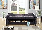 "Melpomene 84"" Modern Sofa Loveseat,Oversize Contemporary Living Room Adjustable Sofa Ebony Microfiber Couch Plush Storage Couch 1pc Futon Sofa with Pillows (Microfiber, Black)"