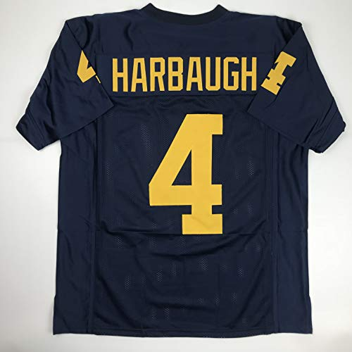 Unsigned Jim Harbaugh Michigan Blue Custom Stitched College Football Jersey Size Men's XL New No Brands/Logos