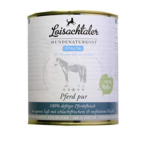 Loisachtaler Premium Hundefutter Nassfutter Pferd pur 800g (18 x 800g)