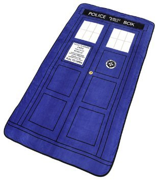 Doctor Who Tardis Large Throw Blanket - Largest & Newest & Softest Throw Blanket 50'x89' (Silk Touch not Micro Fleece)