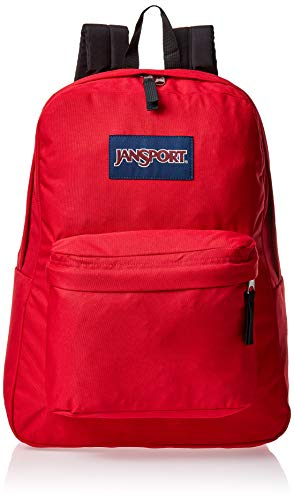 JanSport SuperBreak One Backpack - Lightweight School Bookbag, Red Tape