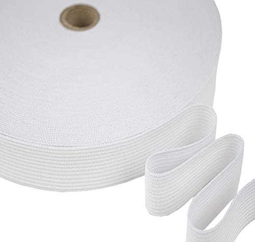 Tukan-tex Gummiband 20mm breit Weiß 25 Meter DIY (Weiß, 20 mm)