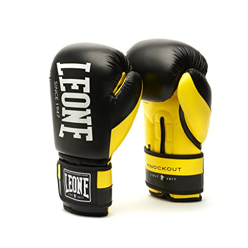 LEONE 1947 KNOCKOUT Guantoni Boxe, Esclusiva Amazon, Unisex – Adulto, Giallo, 10OZ
