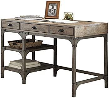 Acme Furniture Gorden Weathered Oak & Antique Desk