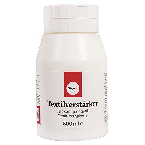 Rayher Hobby 3450500 Textilverstärker, Dose 500 ml, Textilversteifer zum Versteifen von Stoffen, Kleidung, Wolle, Leder, Papier usw.