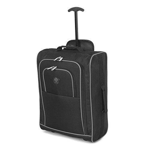 Cabina approvato multiuso bagaglio a mano di volo / bagagli zaini trolley (nero / grigio)