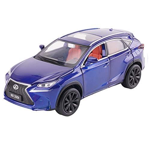 Modelo de automóvil Lexus NX200T Vehículo todo terreno 1:32 Aleación de fundición a presión analógica Sonido y luz Tire hacia atrás Modelo de juguete Modelo de automóvil 15x6x5.5 CM ( Color : Blue )