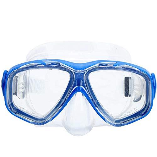 MHSHKS Máscaras De Buceo Máscara De Snorkel Gafas De Silicona Templadas Impermeables Antivaho Natación Buceo Gafas Equipo De Snorkel Subacuático con Tiras Ajustables