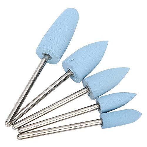 6pcs Nail Drill Bits Set, Professional 7PCS Cuticle Nails Art Files Manucure Pedicure Tools 3/32\