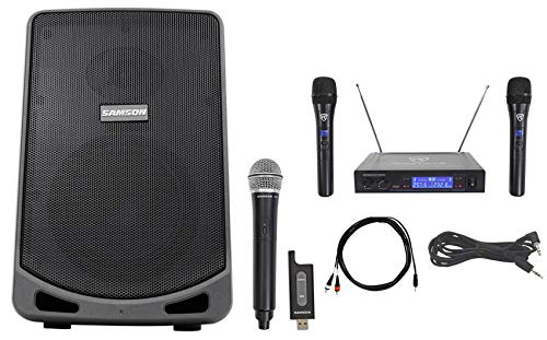 Review Of Samson 6 Portable Powered YouTube Karaoke Machine/System+Wireless Microphones