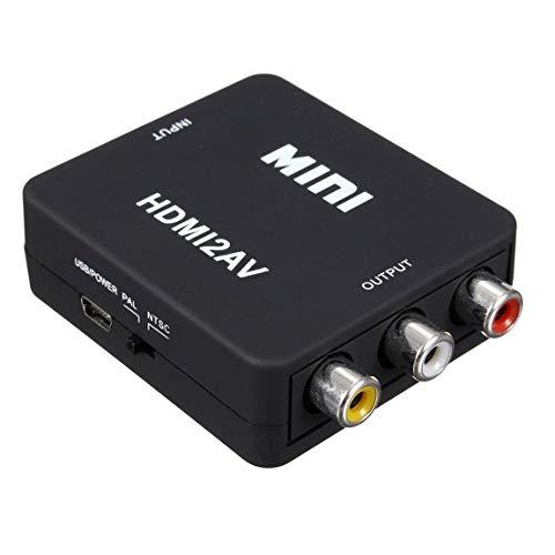SeniorMar 1080P Mini HD Converter Box Hdmi Vers AV RCA CVBS Adaptateur Audio Vidéo Composite AC