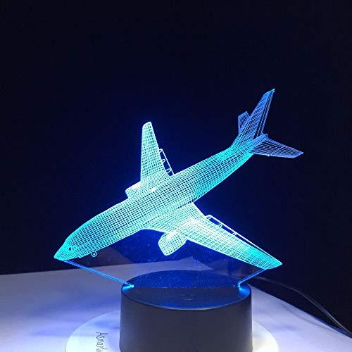 wangZJ Árbol de Navidad 7 El color cambia la luz de la noche/Mesa de escritorio/mesa de dibujos animados en 3d Figura de los niños Lámpara de noche/Aviones de los niños