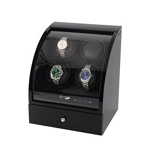 ZCYXQR Enrollador de Reloj automático, Caja mecánica Quad Shaker, Control avanzado y Motor silencioso, Pantalla táctil Digital LCD, Almacenamiento de 3 Joyas, A