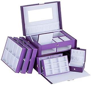 WWCEEM ZZWW Large Jewellery Box Gift Storage Case for Girls Necklace Watch Display - Man Women