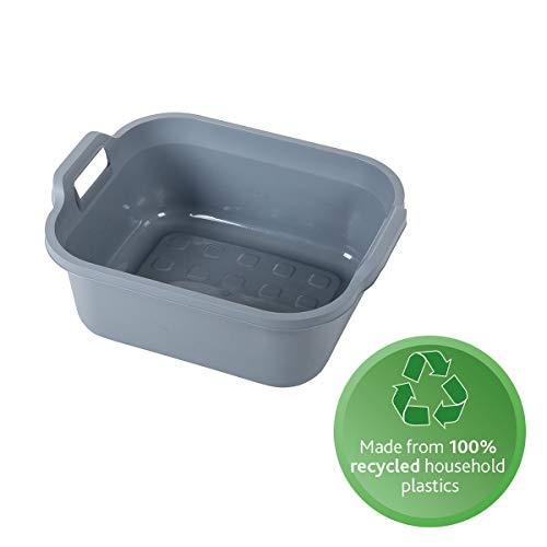Addis Eco Waschschüssel aus 100 % recyceltem Kunststoff, mit Doppelgriff, 9,5 l, Hellgrau