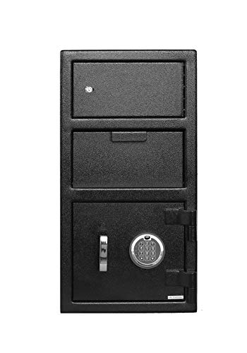 Templeton Standard Depository Drop Safe & Lock Box, Electronic Multi-User Keypad Combination Lock with Key Backup, Anti Fishing Security, 1.5 CBF Black