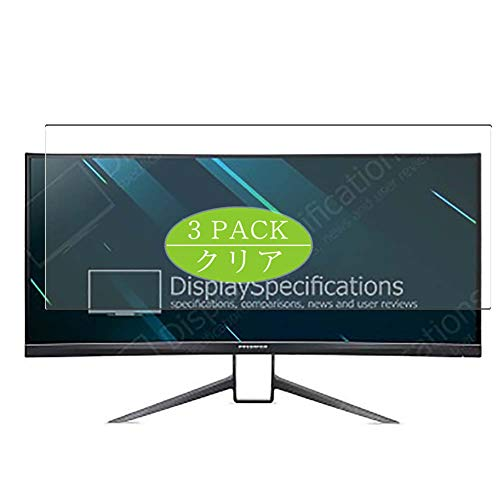 Vaxson 3-Pack Screen Protector, compatible with AcerPredator X34 GS / X34GS 34' Display Monitor, TPU Guard Film Protector [ NOT Tempered Glass Protectors ]