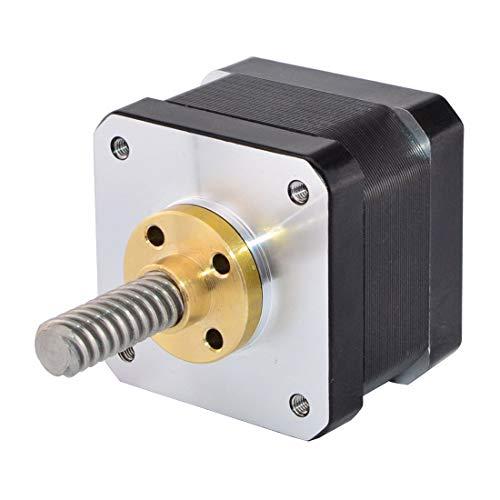 STEPPERONLINE Nema 17 Linear Stepper Motor External 34mm Stack 0.4A Lead Screw TR8x8mm/0.31496' Length 32mm for DIY 3D Printer Kits