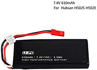 Yoton Accessories Battery H502S H502E RC Quadcopter Spare Parts 7.4V 610mAh 15C high Capacity 2S 7.4 V 610 mah Wholesale Lipo Battery - (Color: White)