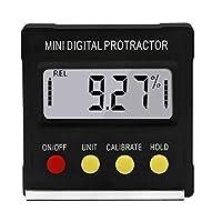 デジタル分度器、傾斜計、電子レベルボックス、Gradienter測定ツールプラスチック角度と傾斜の読み出し変換1 1個