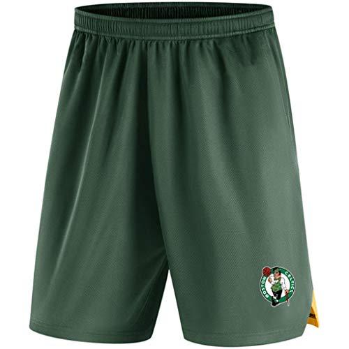 JNTM Mens Sport Shorts NBA Boston Celtics Leichtathletik Basketball Training Gestrickte Jogginghose Strandkurzschlüsse Für Jugend-Sommer Mit Tasche Green-M