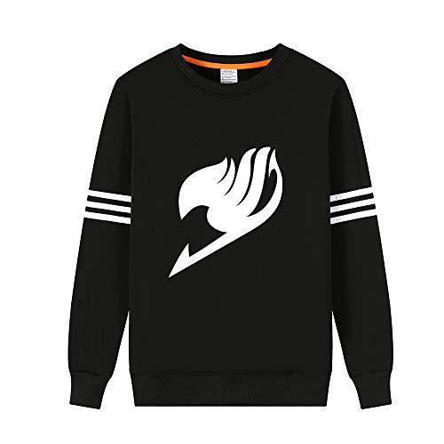 BESTHOO Unisex Fairy Tail Pullover in Maglione Girocollo Pullover Manica Lunga con Stampa e Velluto per Uomo e Donna Pullover Sweatshirt