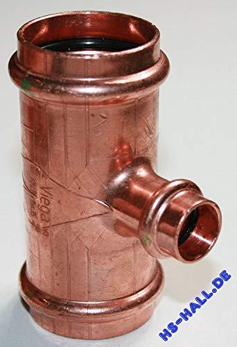 Viega T-Stück Profipress 2418 Kupfer, SC-Contur 35 x 15 x 35 mm, 324865