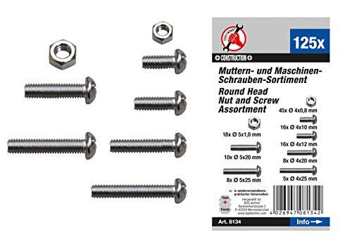 Kraftmann 8134 | Muttern- und Schrauben-Sortiment | metrisch | M4 / M5 | 125-tlg.
