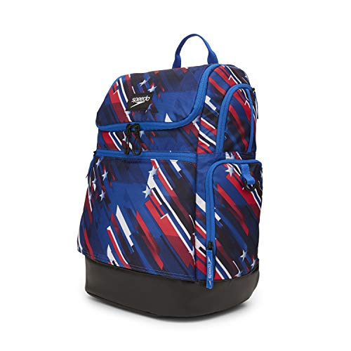 Speedo Large Teamster 2.0 Backpack 35-Liter, Americana Red/White/Blue, One Size