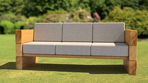 Sitzgruppe Eichenlounge Sitzgruppe I Bank aus massiver Eiche | Made in Germany | Gartenmöbel oder Parkbank I Sitzgruppe I Holzmöbel I Massivmöbel I Outdoormöbel