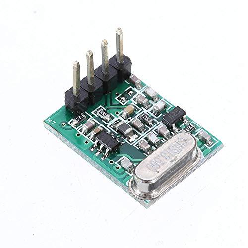 Modulo electronico Baja Tensión de alto rendimiento módulo de transmisión de 433 MHz TX8 DC1.8V-3.6V TTL ASK superheterodino módulo inalámbrico 10pcs