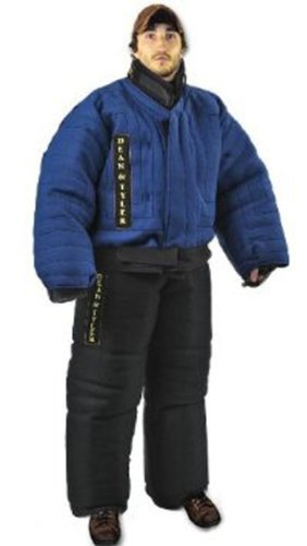 Dean et Tyler Protection complète Bite, Autrement Solide en Lin Français – Bleu/Noir – Taille : Moyen (H : 5.10 au 6.2-Feet, L : 174 de 84,8 Kilogram)