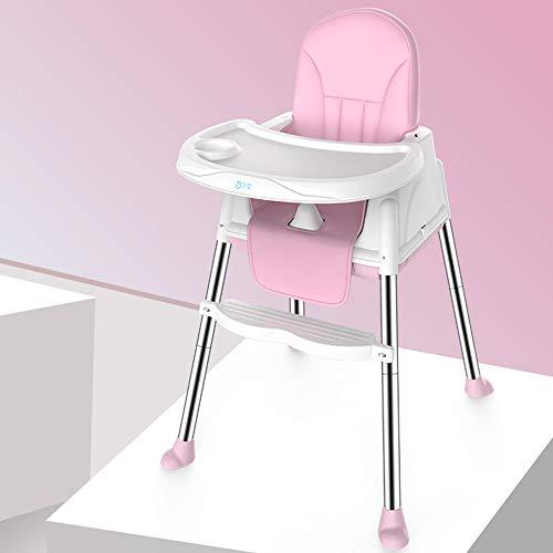 LMJ Outsider Kinderstoelen, multifunctionele draagbare opklapbare stoelen voor kinderen om de eettafel voor kinderen te eten en stoelen stoelen stoelen stoel kussens roze + PU (stuur vier)