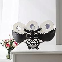 Henreal Toiletpapierhouder zonder boren, toiletpapierhouder, metalen dieren, wandornament, handgemaakte decoratie voor woo...