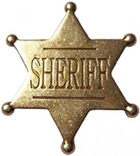 Estrella de Sheriff - placa cowboy