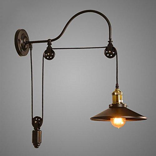 LY Bid wandlampen American Village Retro Industrielle Windmühle Lichter Gang Bar Cafe Schlafzimmer Studie Lift Roller Wandleuchte lampen