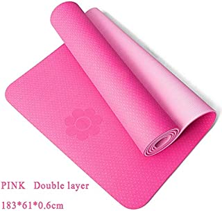 Extra Thick Yoga Mat Extra Thick Non-Slip Foam Yoga Mats Free Bags for Fitness Tasteless Pilates Gym Exercise Pads with Yoga Strap 183cmX61cm Light Pink